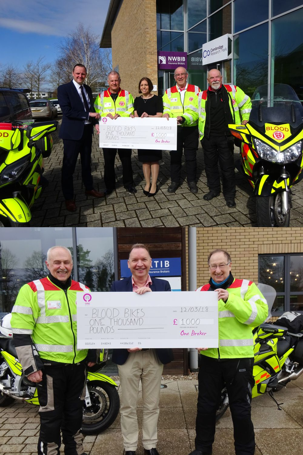 giant charity cheque